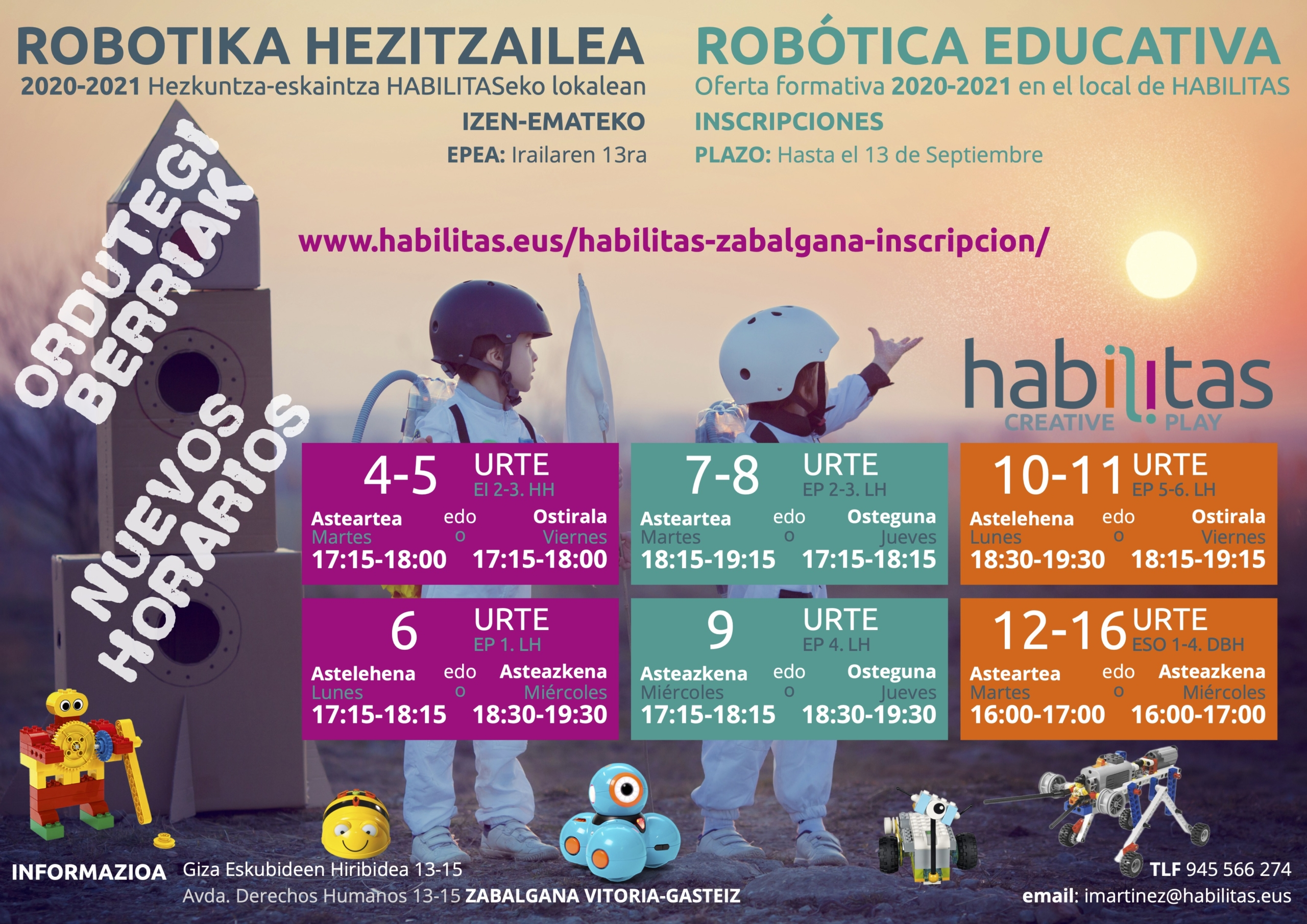 Clases robótica educativa Vitoria-Gasteiz